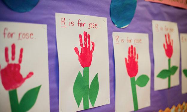 """R is for rose"" kids artwork"