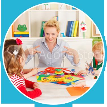 teacher engaging kids in a classroom