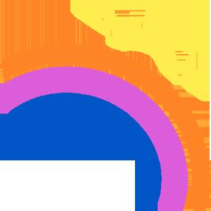 rainbow and sun drawing